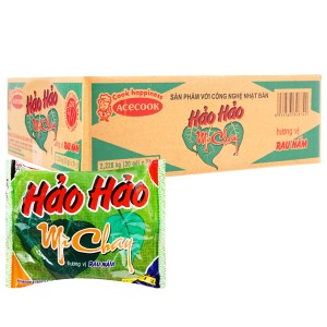 Thùng 30 gói mì Hảo Hảo chay rau nấm 74g
