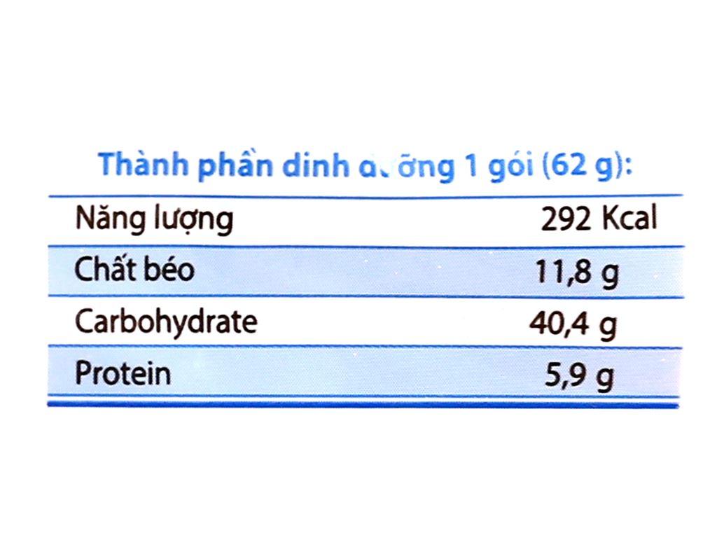 Thùng 30 gói mì Gấu Đỏ chay rau nấm 62g 13