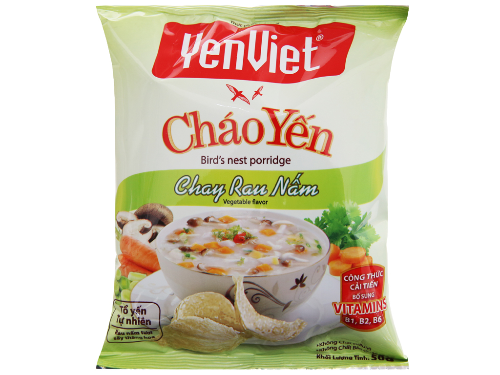 Cháo yến chay rau nấm Yến Việt gói 50g 2