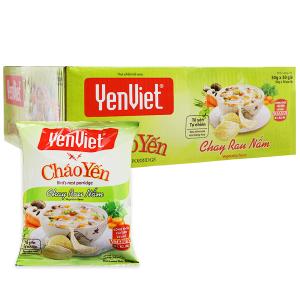 Thùng 30 gói Cháo yến chay rau nấm Yến Việt 50g