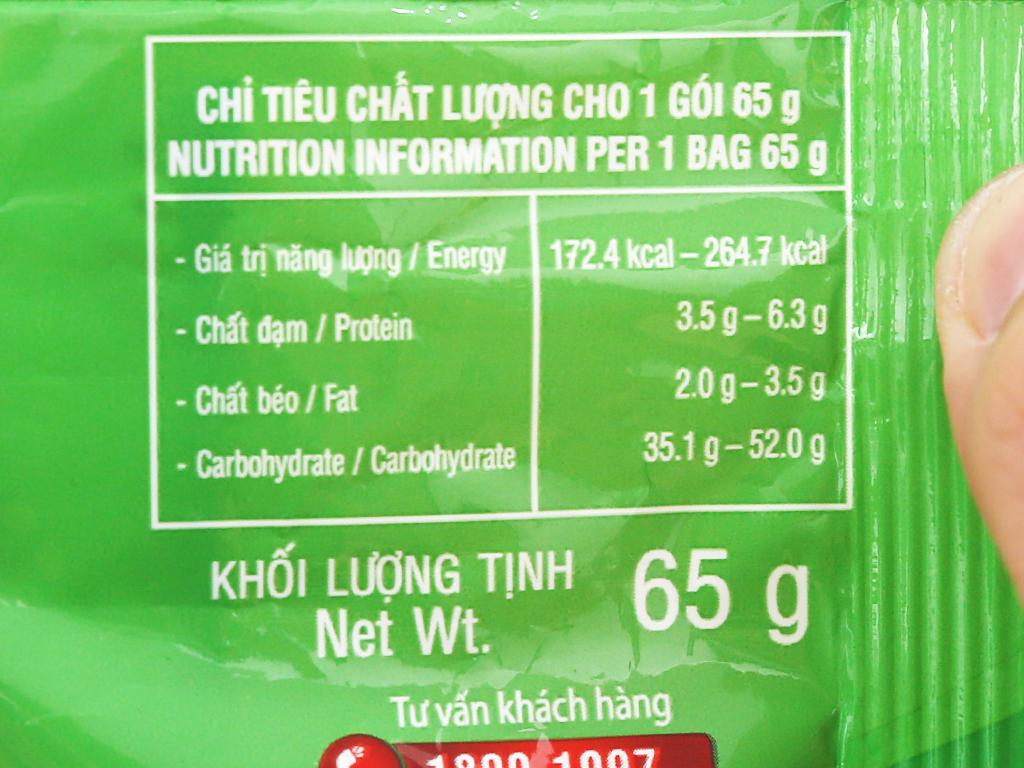 Thùng 30 gói Phở chay rau nấm Vifon 65g 10