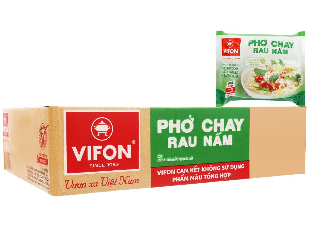 Thùng 30 gói Phở chay rau nấm Vifon 65g 1