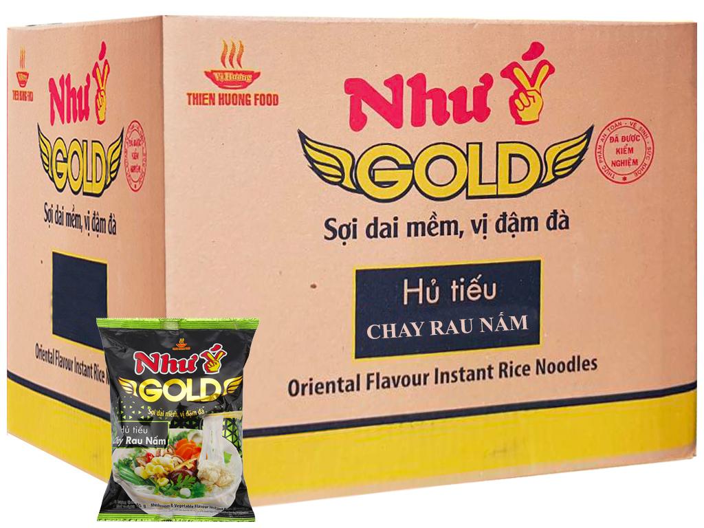 Thùng 30 gói Hủ tiếu chay rau nấm Như Ý Gold 65g 1