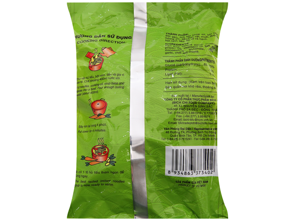 Hủ tiếu chay nấm hương vina Bích Chi gói 60g 2