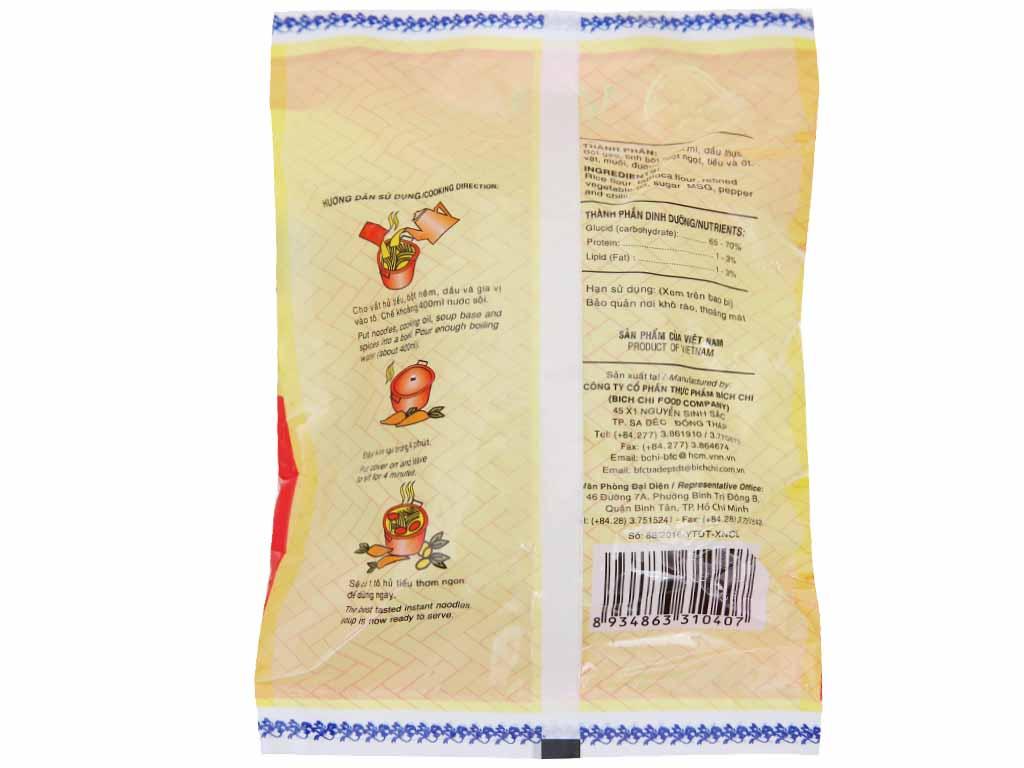 Hủ tiếu chay vina Bích Chi gói 60g 2