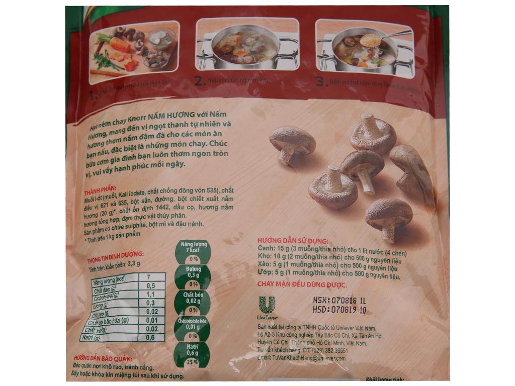 Hạt nêm chay nấm hương Knorr gói 380g 2