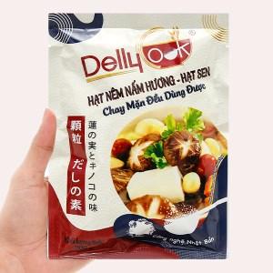 Hạt nêm nấm hương, hạt sen Delly Cook gói 200g
