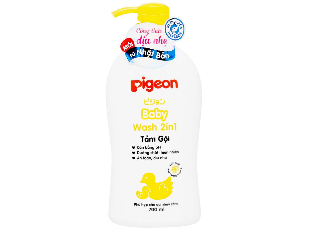 Tắm gội toàn thân cho bé Pigeon hoa hướng dương 700ml 7