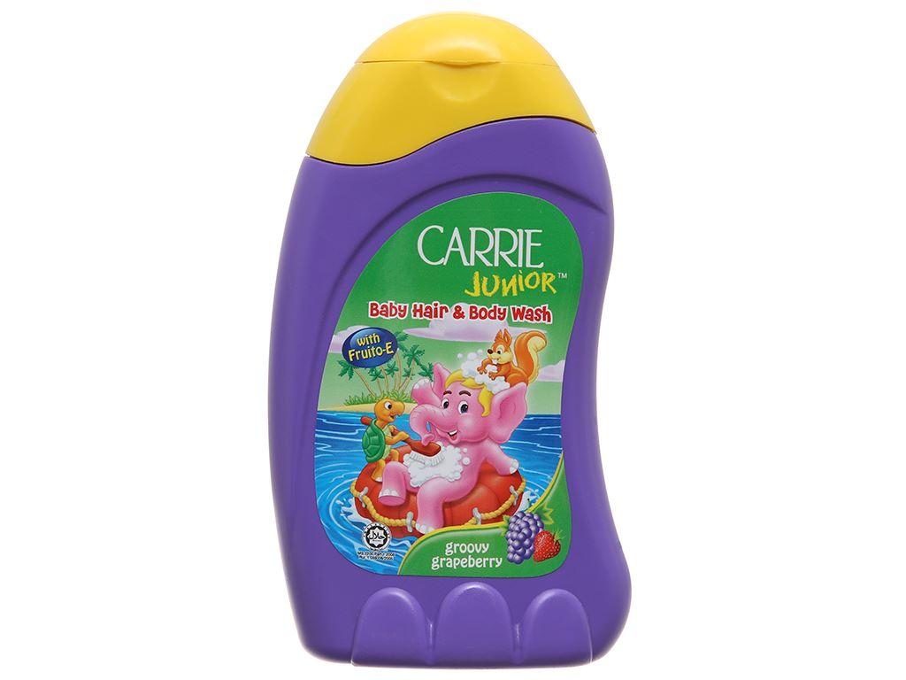 Tắm gội toàn thân cho bé Carrie Junior hương Grapeberry 280ml 2
