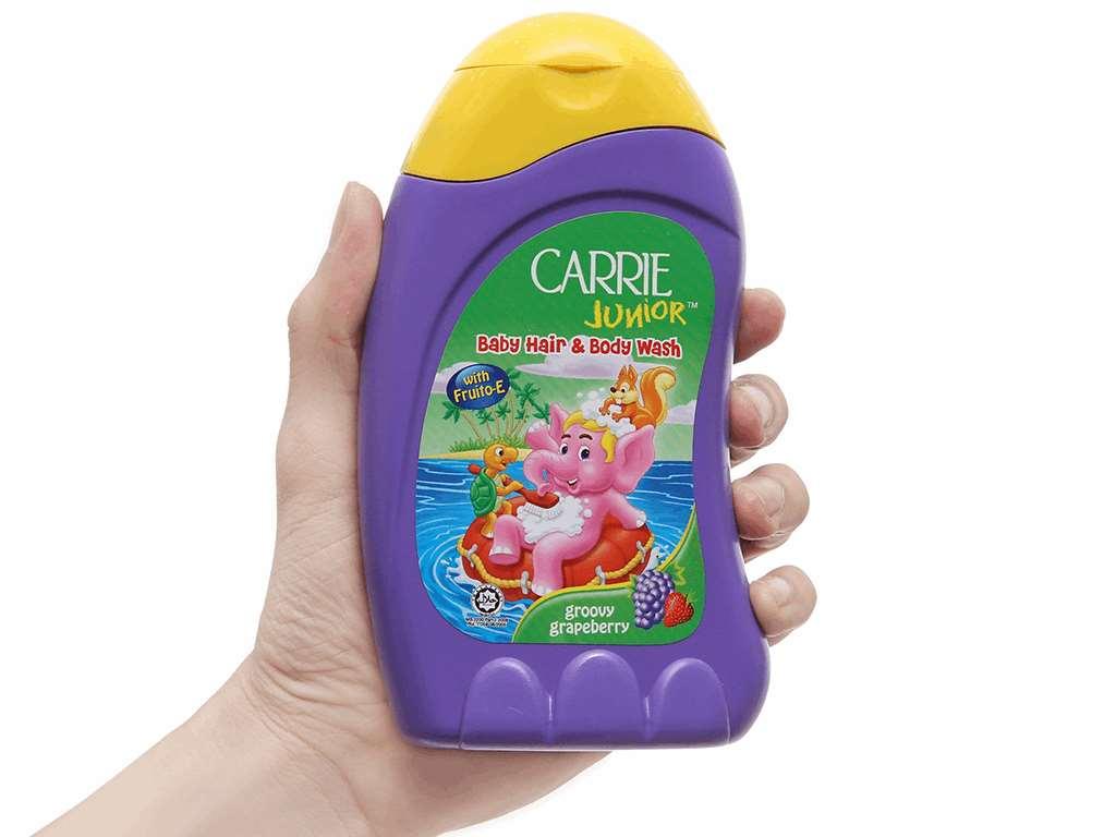 Tắm gội toàn thân cho bé Carrie Junior hương Grapeberry 280ml 4