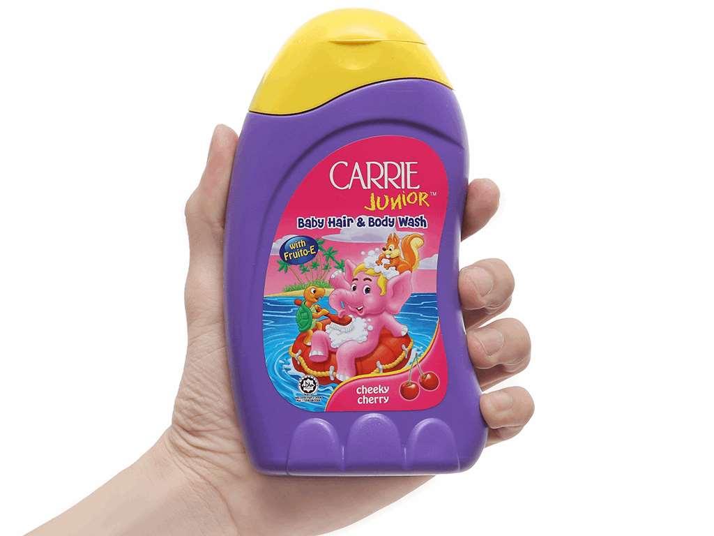 Tắm gội toàn thân cho bé Carrie Junior 280ml 4