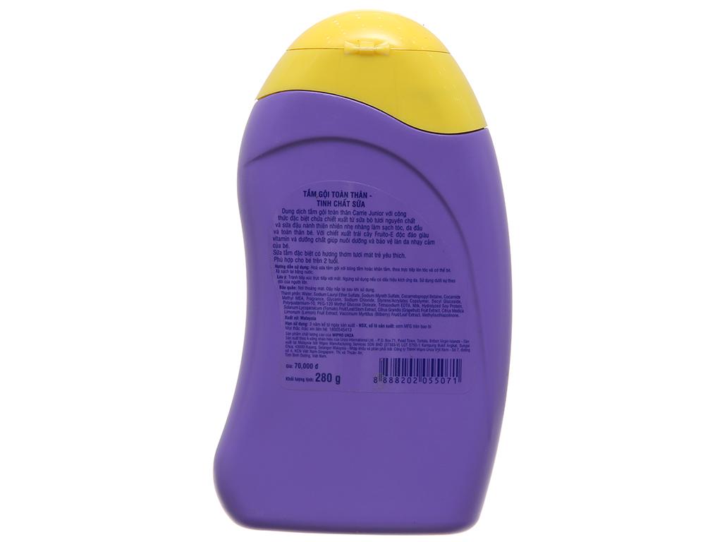 Tắm gội toàn thân cho bé Carrie Junior tinh chất sữa 280ml 3