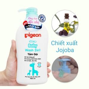 Tắm gội toàn thân cho bé Pigeon chiết xuất Jojoba 700ml