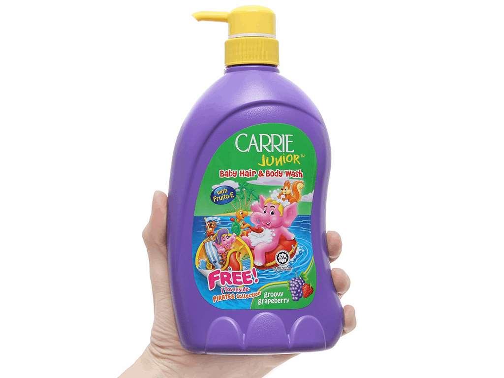 Tắm gội toàn thân cho bé Carrie Junior hương Grapeberry 700ml 4