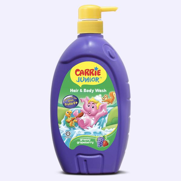 Tắm gội toàn thân cho bé Carrie Junior hương Grapeberry 700ml