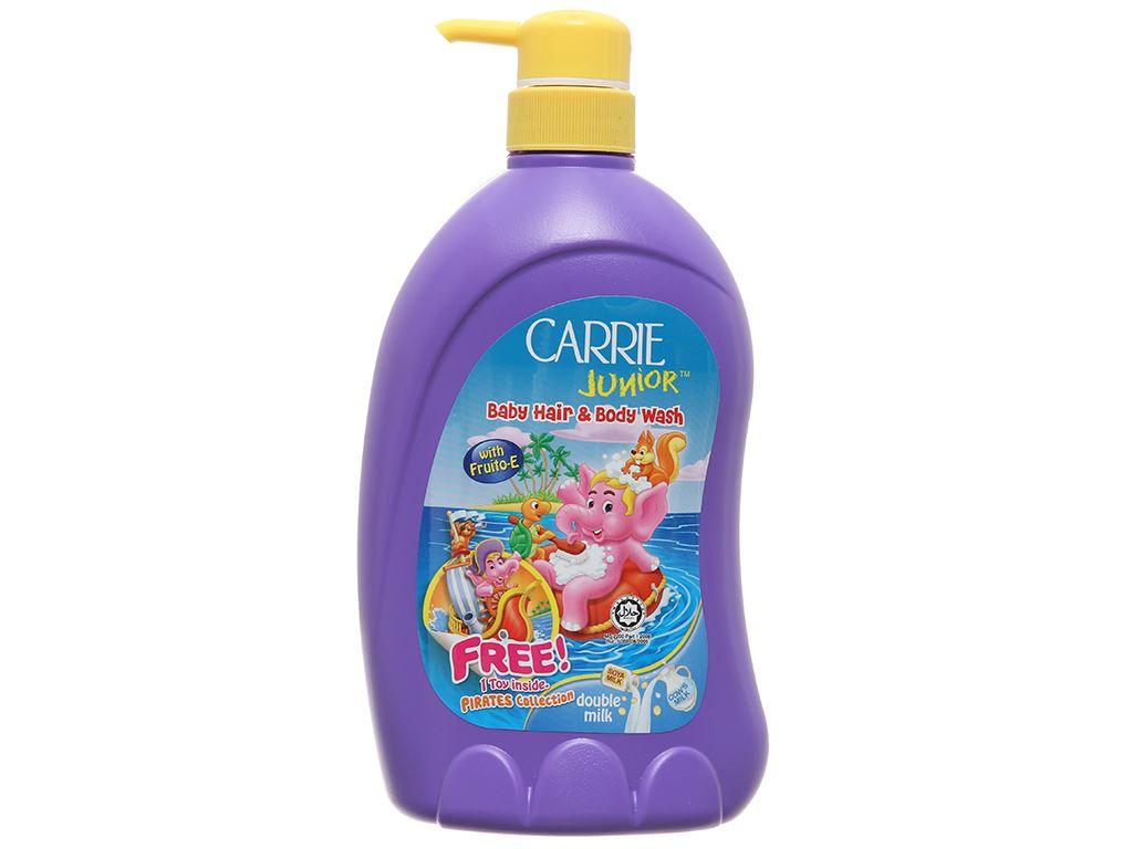 Tắm gội toàn thân cho bé Carrie Junior tinh chất sữa 700ml 2