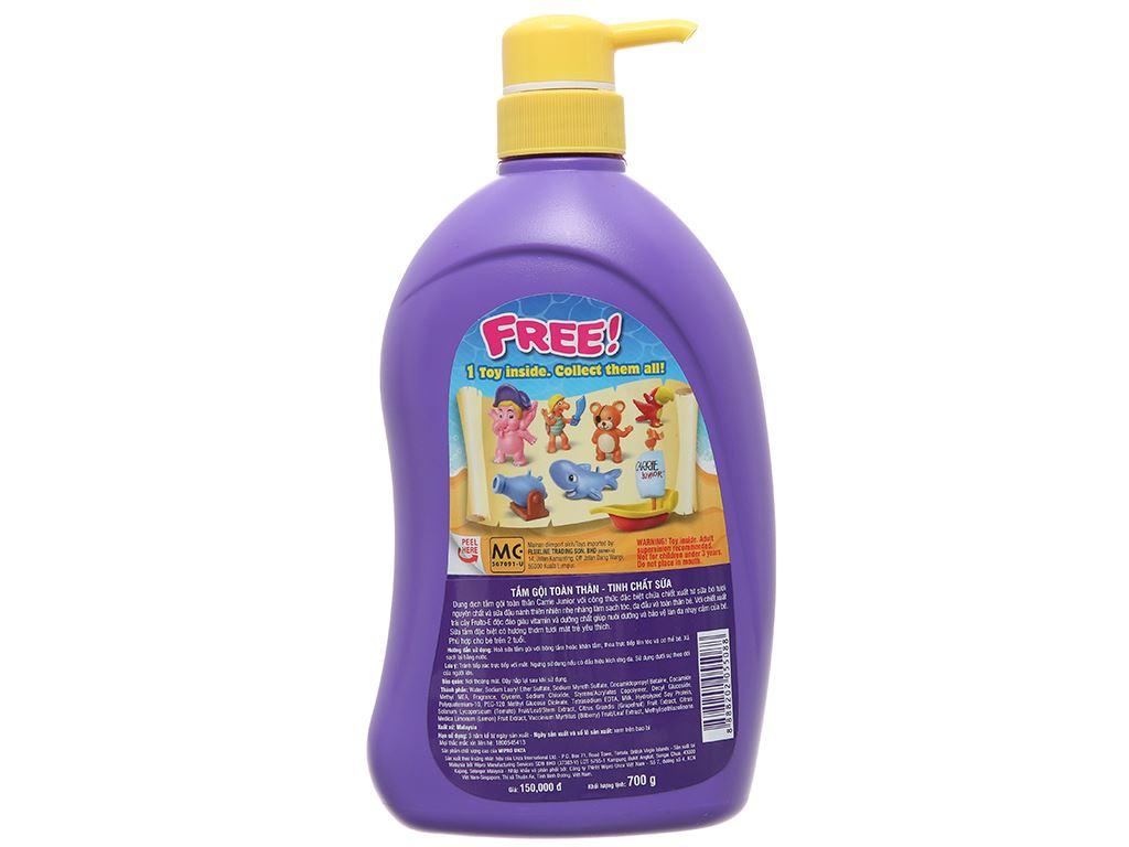 Tắm gội toàn thân cho bé Carrie Junior tinh chất sữa 700ml 3