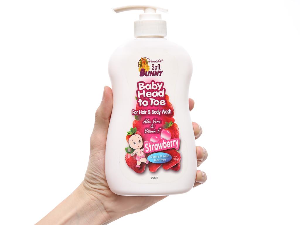 Tắm gội toàn thân cho bé Soft Bunny hương dâu 500ml 4