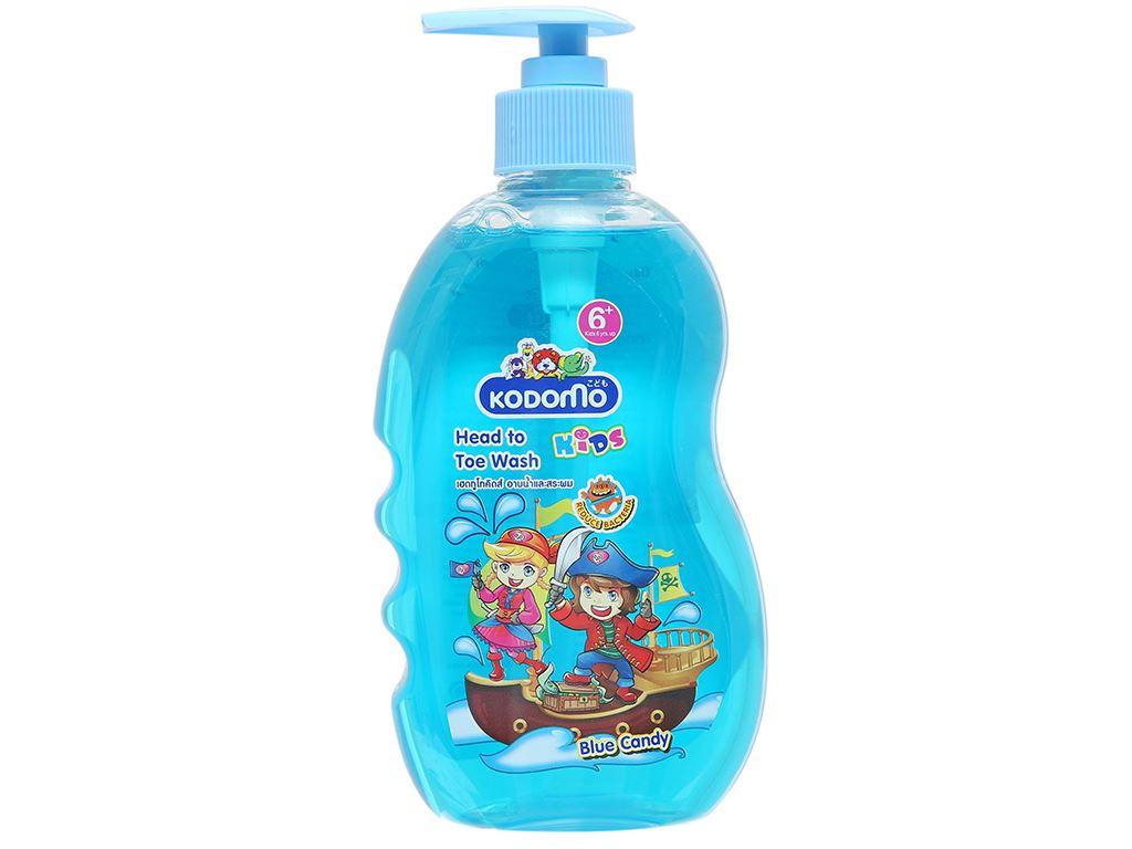 Tắm gội toàn thân cho bé Kodomo 6 Blue Candy 400ml 1