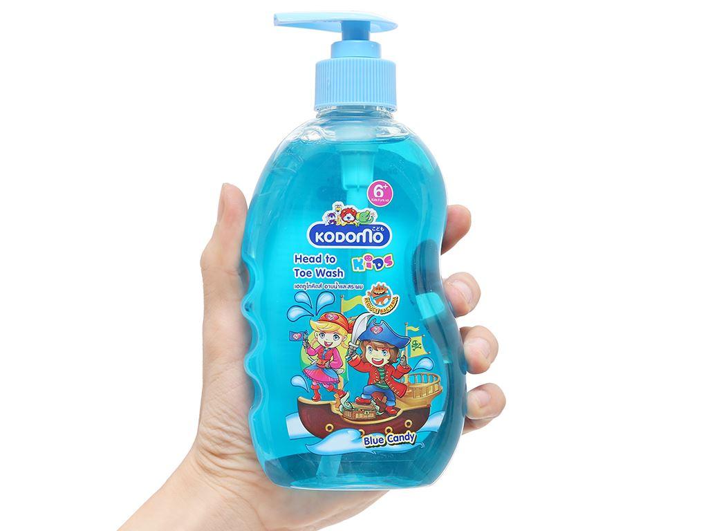 Tắm gội toàn thân cho bé Kodomo 6 Blue Candy 400ml 3