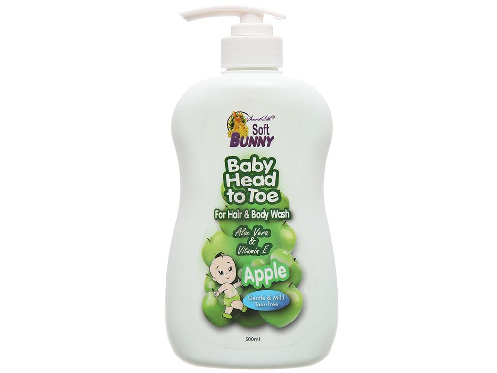 Tắm gội toàn thân cho bé Soft Bunny hương táo xanh 500ml 2