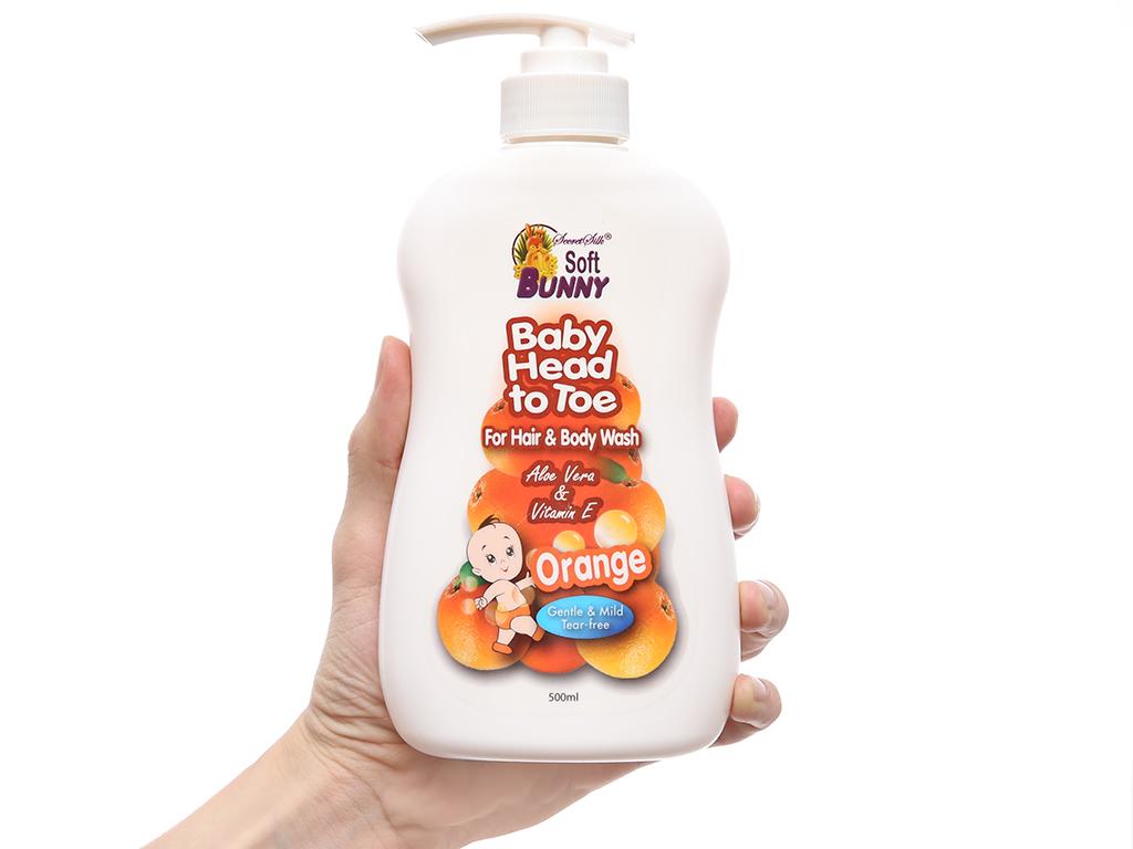 Tắm gội toàn thân cho bé Soft Bunny hương cam 500ml 4