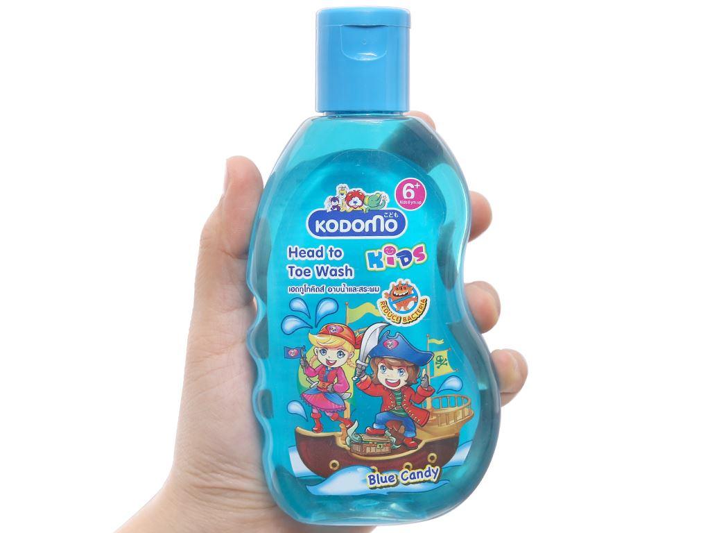 Tắm gội toàn thân cho bé Kodomo Blue Candy 200ml 3