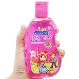 Tắm gội toàn thân cho bé Kodomo Fruity Berry 200ml