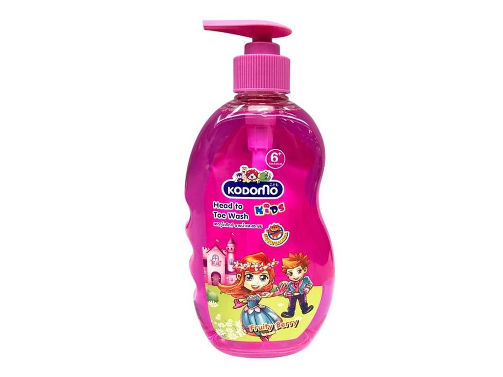 Tắm gội toàn thân cho bé Kodomo Fruity Berry 400ml 2