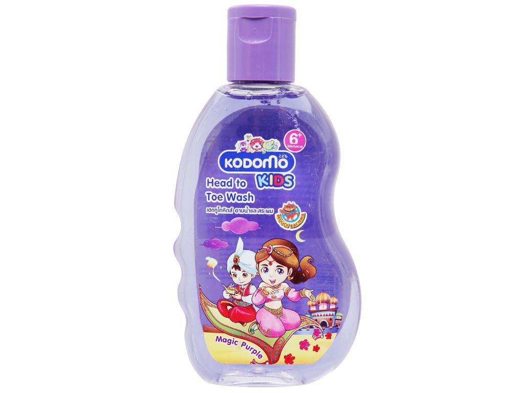 Tắm gội toàn thân cho bé Kodomo Magic Purple 200ml 1