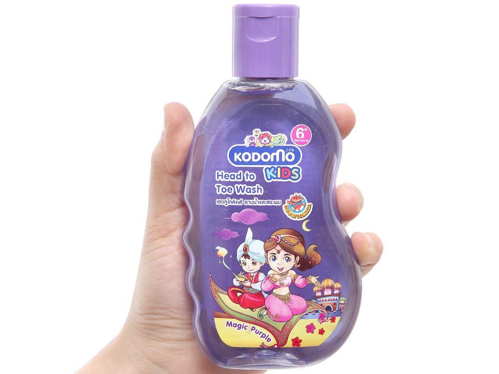 Tắm gội toàn thân cho bé Kodomo Magic Purple 200ml 3