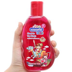 Tắm gội toàn thân cho bé Kodomo Happy Red Berry 200ml
