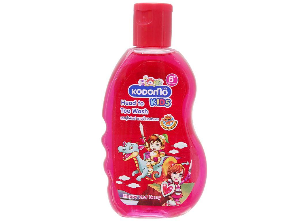Tắm gội toàn thân cho bé Kodomo Happy Red Berry 200ml 1