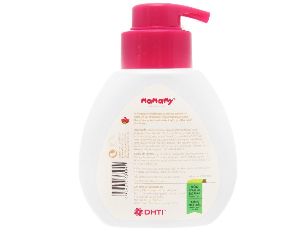 Bọt tắm gội thiên nhiên cho bé Mamamy Raspberry 400ml 2