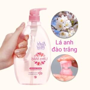 Tắm gội toàn thân cho bé Babi Mild Sakura 850ml