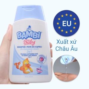 Tắm gội toàn thân cho bé Bambi 300ml