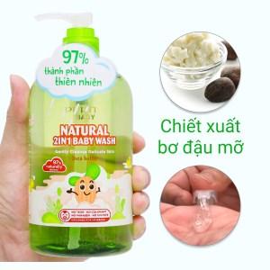 Tắm gội toàn thân cho bé Purité bơ đậu mỡ 500ml