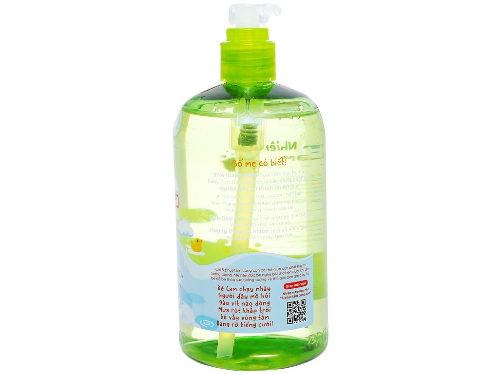 Tắm gội toàn thân cho bé Purité Baby tinh dầu cam 500ml 3