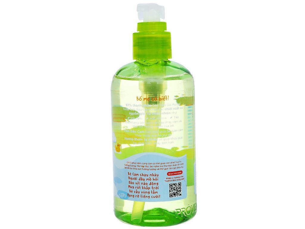Tắm gội toàn thân cho bé Purité Baby tinh dầu cam 250ml 3