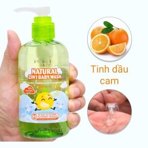 Tắm gội toàn thân cho bé Purité Baby tinh dầu cam 250ml