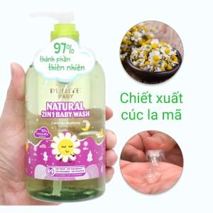 Tắm gội toàn thân cho bé Purité Baby cúc la mã 500ml