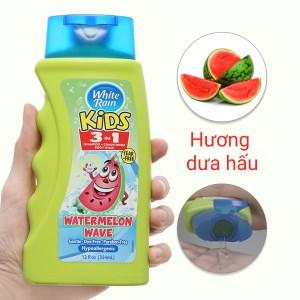 Tắm gội toàn thân cho bé White Rain Kids 3in1 Watermelon Wave 354ml