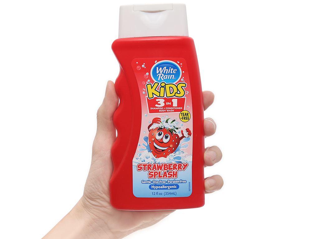 Tắm gội toàn thân cho bé White Rain Kids 3in1 Strawberry Splash 354ml 3