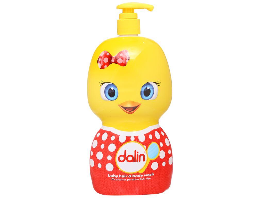 Tắm gội toàn thân cho bé Dalin 650ml 3