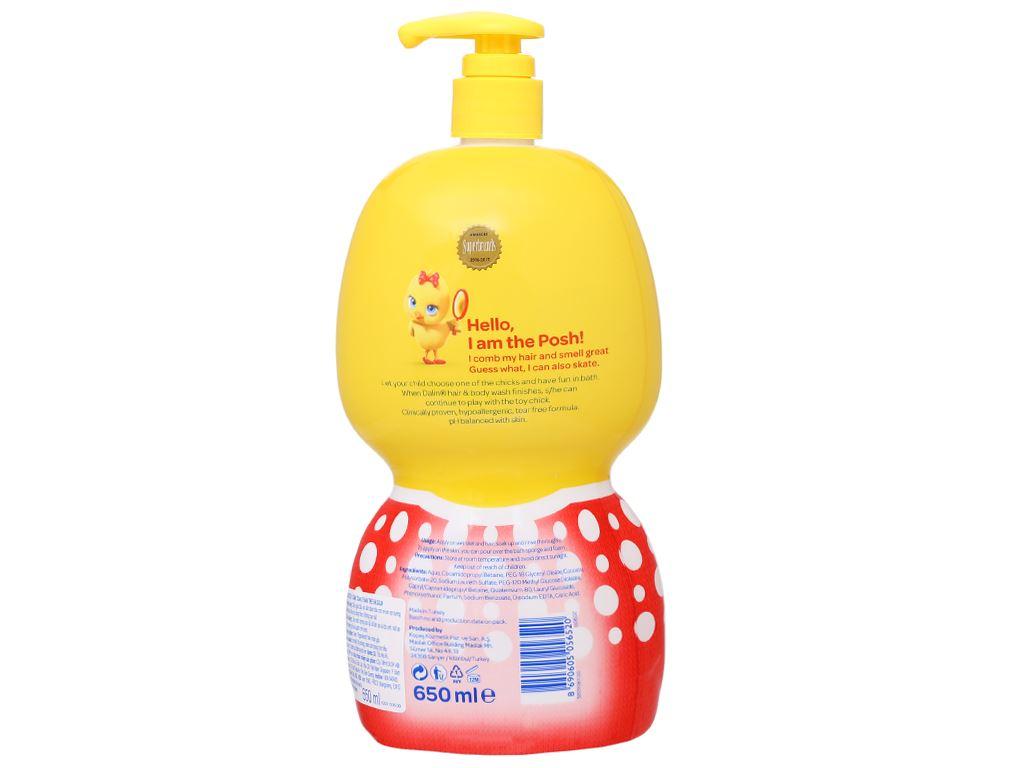 Tắm gội toàn thân cho bé Dalin 650ml 4