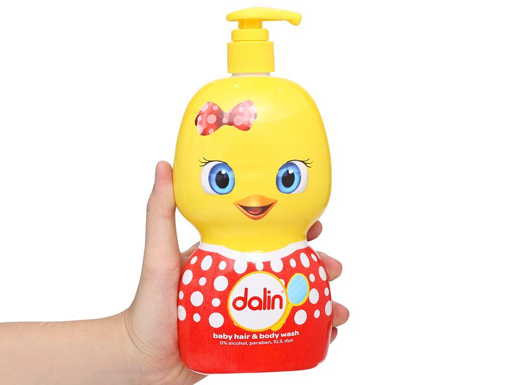 Tắm gội toàn thân cho bé Dalin 650ml 8
