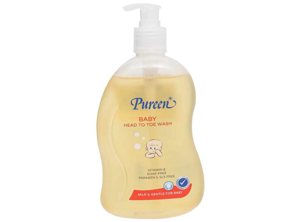 Tắm gội toàn thân cho bé Pureen Pro-Vitamin B5 & Vitamin E 500ml 1