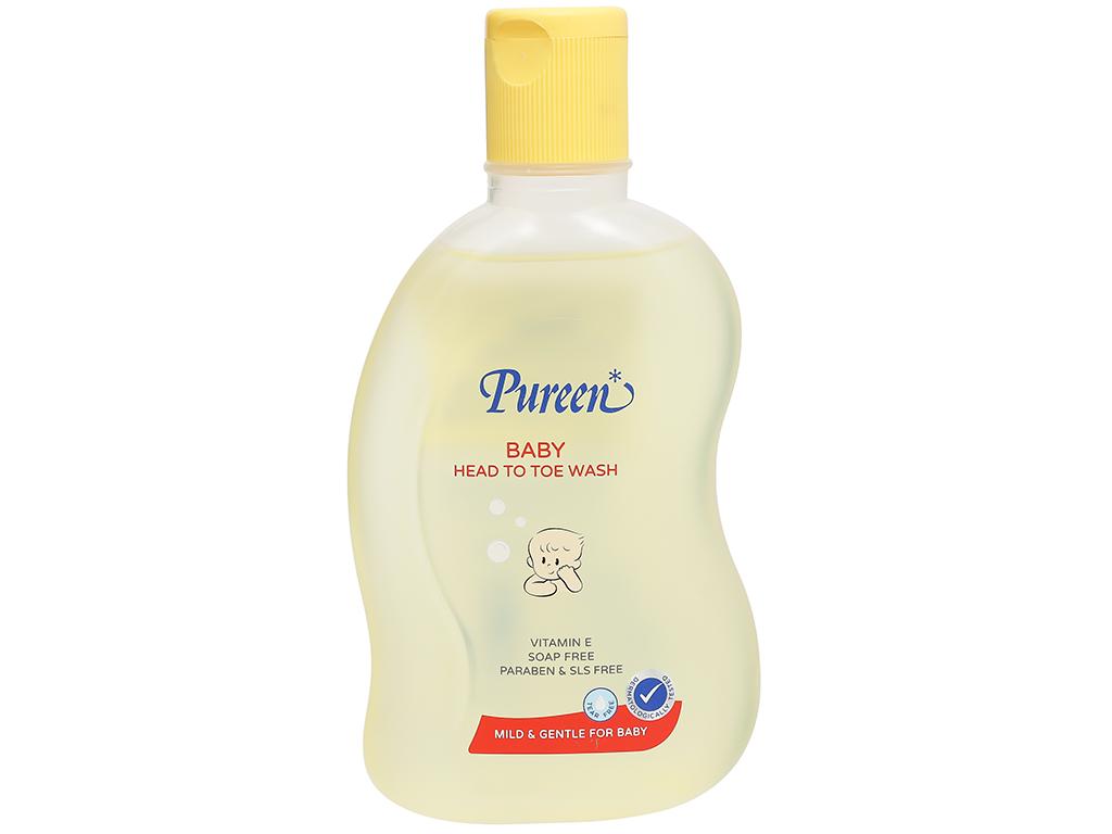 Tắm gội toàn thân cho bé Pureen Pro-Vitamin B5 & Vitamin E 250ml 1