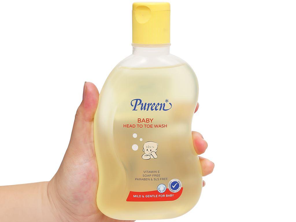 Tắm gội toàn thân cho bé Pureen Pro-Vitamin B5 & Vitamin E 250ml 4