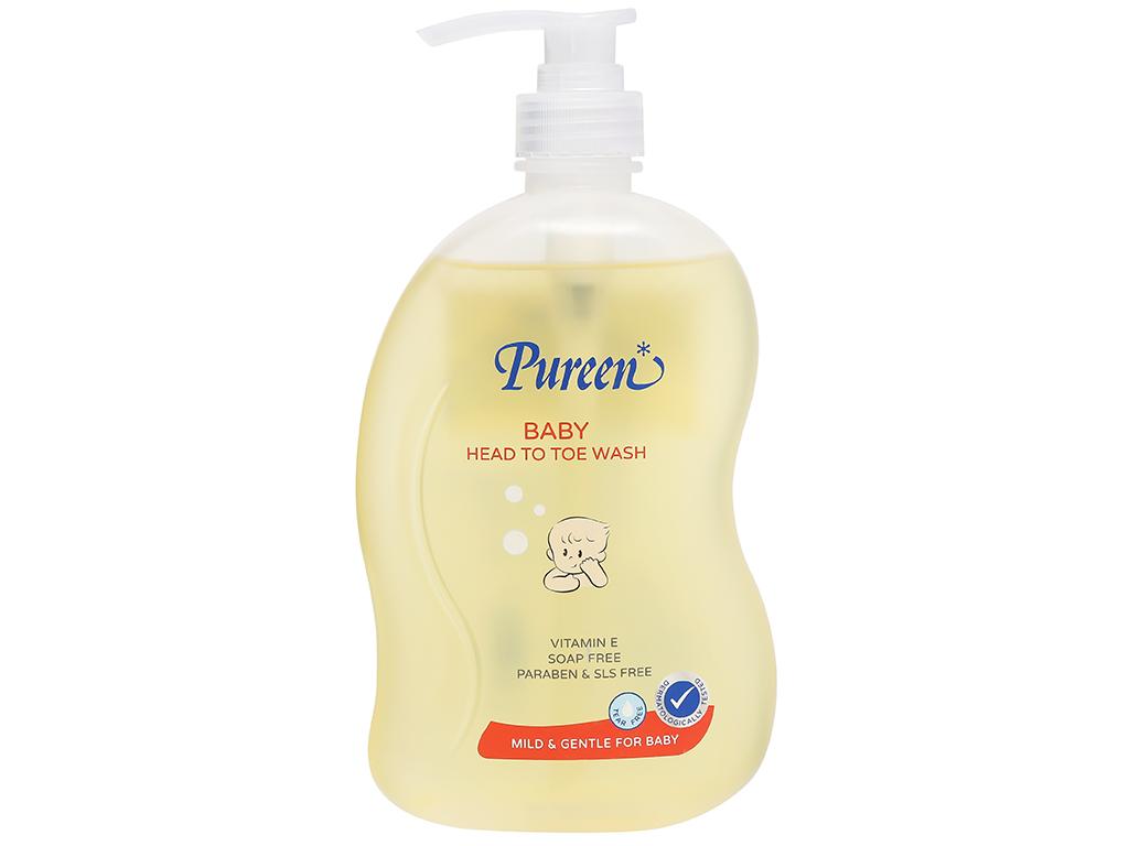 Tắm gội toàn thân cho bé Pureen Pro-Vitamin B5 & Vitamin E 750ml 1